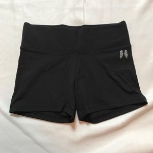 NWOT VS Solid Black High Waisted Yoga Shortie
